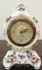 Dresden China Germany Mercedes Small Clock Vintage