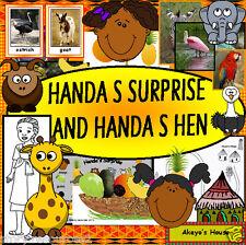 HUGE HANDAS  SURPRISE HANDA'S HEN EYFS KS1 STORY SACK TEACHING RESOURCES on CD