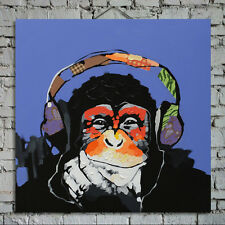 Money Cartoon Oil Painting on Canvas Abstract Animal Wall Art for Home Decor Hot