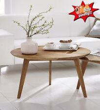 Couchtisch Olpe, Wildeiche, Wohnzimmertisch, 90 cm, Stubentisch, Massivholz