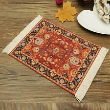 11x7'' 2mm Persian Style Mini Rug Mouse Pad Carpet Mousemat With White Tassel