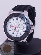 Guess Watch, Men's Black Silicone Strap Watch U0674G3, New
