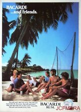 1980 'BACARDI' Rum Advert #5 - Original (Beach Fishing Nets) Print AD
