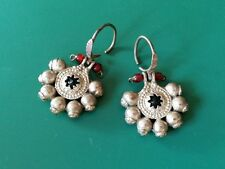 ORIGINAL - ANTIQUE Ottoman-Islamic jewelry!!!-silver alloy earrings 19th century