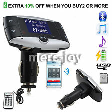 LCD Bluetooth FM Transmitter Car Kit MP3 Player  Modulator SD MMC USB Remote