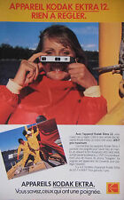 PUBLICITÉ 1979 APPAREIL KODAK EKTRA 12 RIEN A DÉCLARER - ADVERTISING
