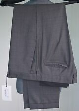 NWT Paul Smith Patterned Trousers Slim Pant Wool Grey Made in Italy Size 36