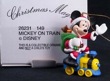 Grolier Disney Mickey Mouse Toy Train Christmas Magic Ornament 26231149