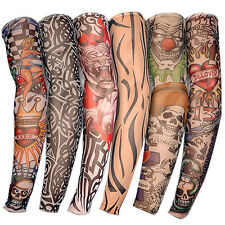 6 pcs/set Fashion Temporary Fake Tattoo Sleeves Arm Art Design Kit Nylon Party