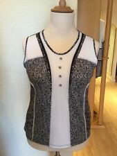 Jean Gabriel Top Size 16 BNWT Black Cream RRP £90 Now £35