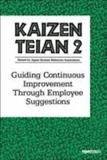 Kaizen Teian 2: Guiding Continuous Improvement Through Employee Suggestions (No.