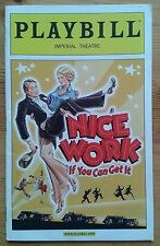Nice Work If You Can Get It Playbill programme Imperial Theatre 2012 Kelli OHara