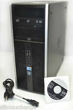 BUSINESS 32BIT XP PRO HP 8000 ELITE CORE DUO 2.93GHZ 4GB RAM 250G TOWER COMPUTER