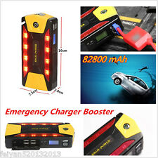 82800 mAh 4USB Car Jump Starter Emergency Charger Booster Power Bank Battery SOS
