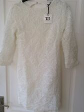 LADIES TRUE DECADENCE WHITE LACE BODYCON DRESS. SIZE 10. BNWT. RRP £50