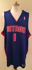 RARE VTG REEBOK CHAUNCEY BILLUPS DETROIT PISTONS AUTHENTIC NBA HOME JERSEY 52