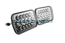 """A Pair 7""""x6"""" LED Headlights For Toyota Pickup Truck Sealed Beam Square Headlamps"""