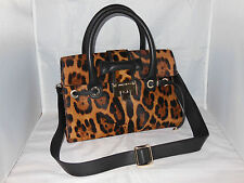 "JIMMY CHOO LEOPARD PRINT CALF HAIR ""ROSALIE"" SATCHEL BAG $2995"