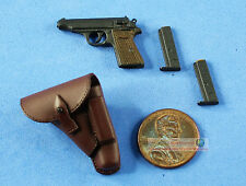 1:6 FIGURE GERMAN General Commander Walther PP Pistol Gun Handgun Holster WF_6I