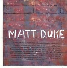 (BZ458) Matt Duke, The Father, The Son And The Harlot's Ghost - 2008 DJ CD