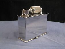 MCMURDO ENGLISH CHROME ART DECO VINTAGE TABLE LIFT ARM PETROL LIGHTER