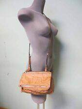 Givenchy AUHT Pandora Pepe Mini Crossbody Messenger Tan Caramel Medium Brown