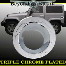 Chrome Fuel Gas Door Tank Filler Housing Cover 2007-2016 JEEP WRANGLER UNLIMITED