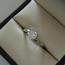 LOVELY 14K WG SI1/I .73 CARAT ROUND BRILLIANT DIAMOND SOLITAIRE ENGAGEMENT RING