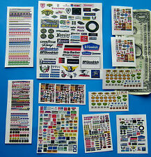 HO SLOT CAR Waterslide Assorted Decals,BUILDING SIGNS, HOOKER PENNZOIL TIRES ECT