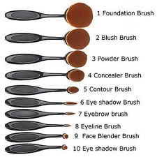 Profi 10Pcs Zahnbürste Pinsel Puderpinsel Foundation Kosmetik Make Up Brush Sets