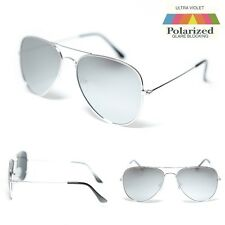 Air Force Aviator Sunglasses - Polarised Silver Mirror Lens - Free Post In AUS