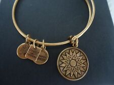 Alex and Ani  NEW BEGINNINGS Russian Gold Charm Bangle  W/ Tag Card & Box