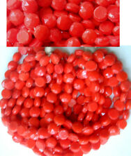 250 Lipstick Red Hank Vintage Dome Top Round Nailhead Glass Beads HUGE LOT SALE!
