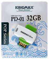 KINGMAX 32GB Green USB 2.0 Flash Drive Thumb KEY 32G PD-01 POP series