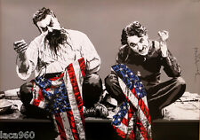 Mr Brainwash (Thierry Guetta) The Patriots Charlie Chaplin Litho Poster