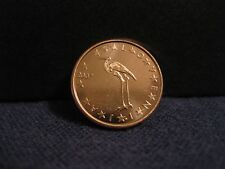 "2007 Slovenia Coin 1 Euro Cent  ""White Stork""  uncirculated beauty bird coin"