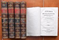ÉTUDES de la NATURE Bernardin de SAINT-PIERRE Règne Végétal & Animal An XII 1804