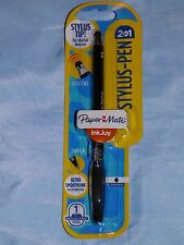 PAPERMATE  INKJOY 2 IN 1 STYLUS PEN BLACK INK BALLPOINT WRITING DIGITAL DEVICES