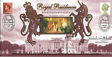 6 JAN 2000 ROYAL RESIDENCES BUCK PALACE BENHAM COVER SIGNED NICHOLAS WITCHELL a