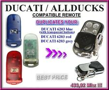 DUCATI ALLDUCKS 6203 blue, red, transparent, compatible remote control / CLONE