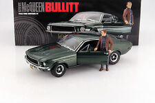 FORD Mustang GT Movie Car BULLITT STEVE MCQUEEN VERDE 1:18 Greenlight