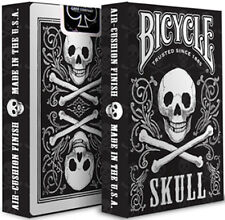 Skulls Bicycle Playing Cards - Skull Themed Bicycle Card Deck from USPCC