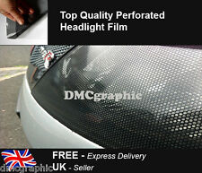 25x106cm Car Headlight Perforated Window Vinyl Film Decal Fly Eye Spi Vision PVC