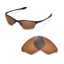 New WL Polarized Brown Replacement Lenses For Oakley Half Wire XL Sunglasses
