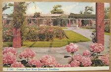 Lumps Fort Rose Gardens, Southsea postcard 1962