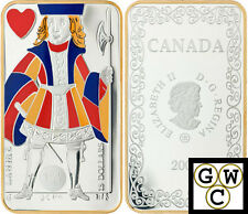 2008 'Jack of Hearts' Playing Card Colorized Proof $15 Silver (12330)