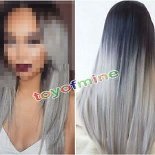 Women's Lady Long Straight Full Hair Cosplay Party Synthetic Anime Wigs /Wig