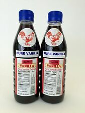 Two (2) Danncy Pure Mexican Vanilla Extract - Dark Color (12 ounces each)