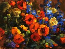 """Canvas Print Impression Flower Oil painting Printed on canvas 16""""X20"""" P574"""