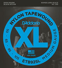 D'Addario ETB92SL - SUPER LONG SCALE NYLON TAPEWOUND BASS STRINGS - 50-105